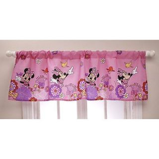 Minnie Mouse Fluttery Friends Window Valance