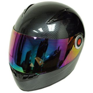 NEW Youth Kids Motorcycle MX BMX Bike Full Face Helmet Carbon Fiber
