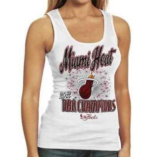 Miami Heat 2012 NBA Finals Champions Ladies Tank Top   White