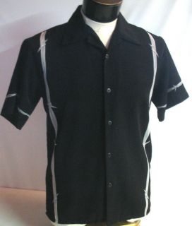 Size S DRAGONFLy Barbed Wire Bowling Shirt Hot Rod biker Tattoo Rebel