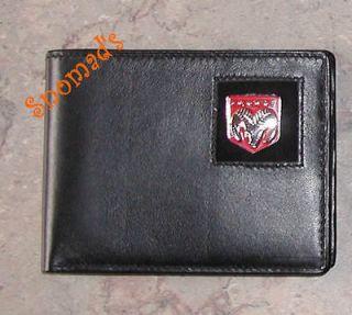 New Genuine Leather Wallet Dodge Ram Logo Metal Emblm B
