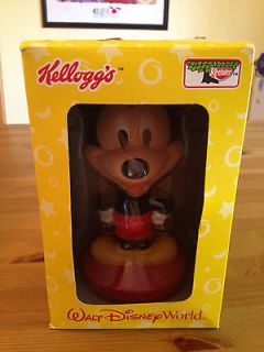 Disney World Mickey Mouse Kelloggs Bobblehead bobble in box
