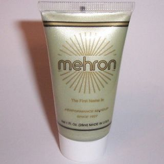 Silver Water Base Cream Mehron Fantasy FX Makeup Face Paint Tube