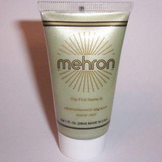 Silver Water Base Cream Mehron Fantasy FX Makeup Face Paint Tube