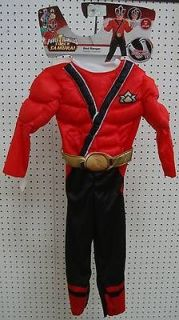 Super Samurai RED RANGER TODDLER Boys' Costume Medium (3T 4T) NWT