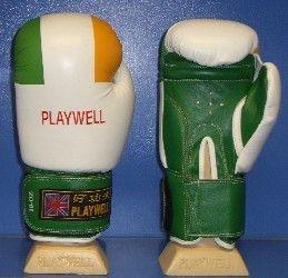 Boxing Gloves Leather W / Irish Flag   16oz ( Ireland )