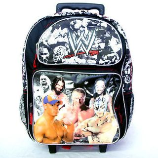 Boys WWE Wrestling Rolling Trolley Backpack Rucksack Bag 16 with
