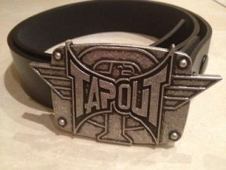 TAPOUT logo metal BUCKLE with FREE BELT mixed martial arts MMA ufc