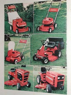 1977 Jacobsen 2 page advertisement, Jacobsen mowers, lawn tractors