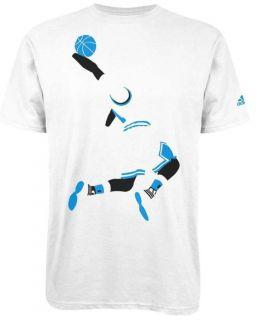 NEW Adidas Mens D ROSE Crewneck Tee Shirt White Blue Bulls Derrick 1