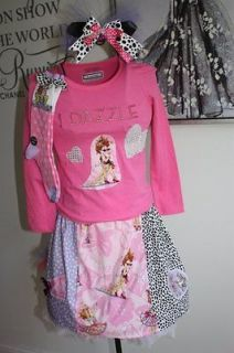 Custom boutique resell Fancy Nancy 4 pc birthday Easter dress sz 4 5