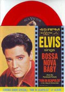 ELVIS PRESLEY Witchcraft & Bossa Nova Baby PICTURE SLEEVE RED VINYL
