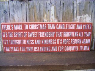 PBK 30 x 10 Wood Wooden BOX SIGN Theres More To Christmas Than