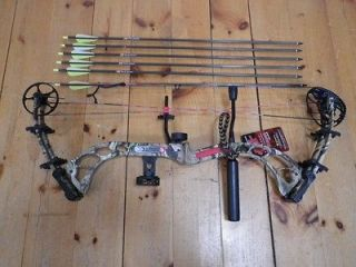 2013 PSE Brute X MP Camo Compound Bow Package LH 60 70# With Arrows