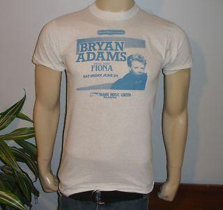 RaRe *1985 BRYAN ADAMS w/ FIONA* vtg rock concert tour t shirt (M/L