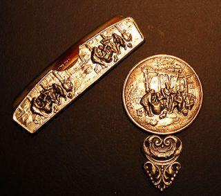 Newly listed Sterling Two Piece Set Vintage Hans Jensen Cracker Barrel