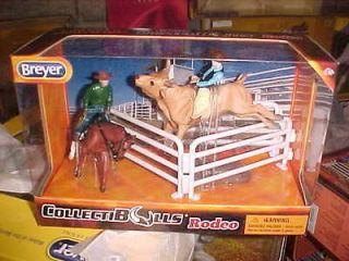 Breyer Stablemate CollectiBulls Rodeo Horse Bull 2 Cowboys All NIB NEW