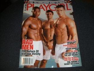 PLAYGIRL, RAD MEN WINTER 2013, FREE 2013 HOMEGROWN HUNKS CALENDAR MINT