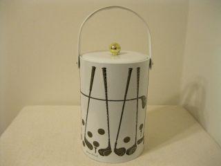 Vintage Georges Briard Golf Theme Ice Bucket