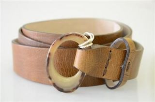 BRUNELLO CUCINELLI Belt Leather Size 85 Gürtel Leder