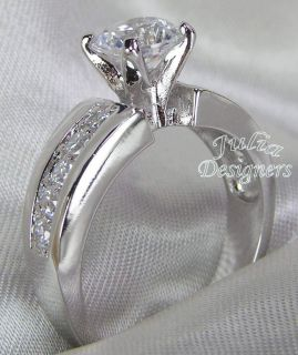 5ct Brilliant Cut Platinum ep Engagement Ring, Sterling Silver