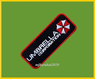 Resident Evil Umbrella Corporation Badge Iron On embroidered Patch