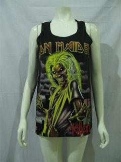 IRON MAIDEN Killers Eddie T Shirt Tank Top Women Sz M