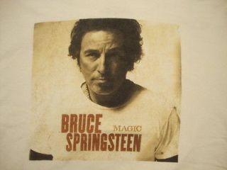 Bruce Springsteen Magic Music Tour White T Shirt XL