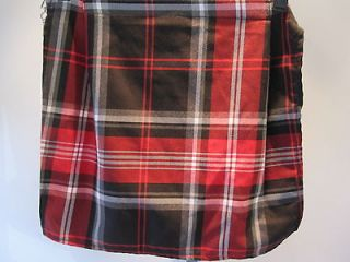 NEW DOGPiLE RED TARTAN PLAiD BUM FLAP POORBOY OLD SCHOOL STREET PUNK