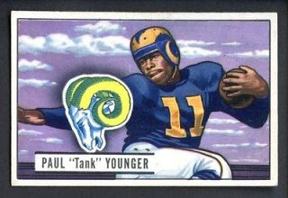 1951 Bowman Football #112 Paul Tank Younger Los Angeles Rams EX MT