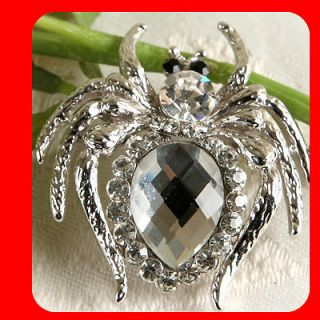 New Spider Brooch pin Clear Swarovski Crystal wholesale