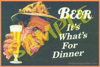 Beer #05 Antique Tin Sign Artwork Sticker for Toolbox Coozie Cooler