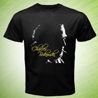 Charles Bukowski retro punk poetry T Shirt Size S M 3XL