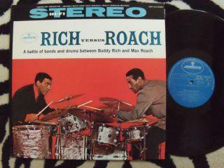 BUDDY RICH versus MAX ROACH Mercury Records JAPAN IMPORT vinyl LP