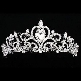 Bridal Pageant Rhinestone Crystal Prom Wedding Crown Tiara 7852