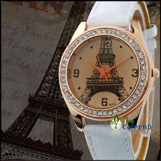 NEW Fashion Vintage Crystal Eiffel Tower Pattern Women Watch Quartz
