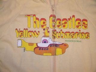 Girls Jrs Medium Retro Beatles Yellow Submarine Hoodie Sweatshirt