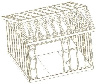 12X12 SALTBOX BARN SHED, 26 GARDEN SHED PLANS, CABIN LEARN TO BUILD A