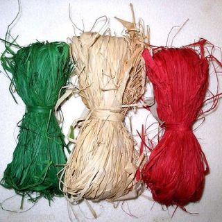 NATURAL ECO RAFFIA 1.5 oz Bundles Recycled Material Gift Wrap Bags
