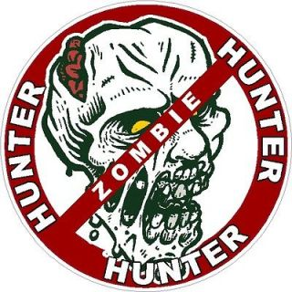 Hunter bumper sticker decal vinyl graphic Halloween auto accessories