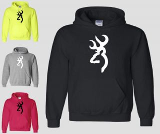 Browning Hoodie Buckmark Hunting Buck Doe Hunter Gun Deer Logo