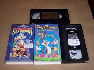 Bugs Bunny Superstar VHS Looney Toons and easter funnies video tape