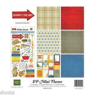 Echo Park Grandpas Tool Shed 12 x 12 Scrapbook Collection Kit