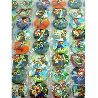 48 pcs Super Mario Bros Brothers 1.75 Button Pins Badge Party Bag Toy
