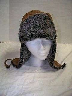 Aviator Style Winter Hat with Ear Flaps Sz 60 XL NWOT