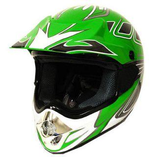Adult Motocross Motorcross MX ATV BMX Bike Helmet Arrow Green S M L XL