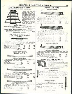 1952 AD Disston One 1 Man Cross Cut Saws Keystone Bushman Two 2
