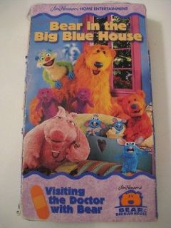 In The Big Blue House VISITING THE DOCTOR WITH BEAR Disney Vhs Video