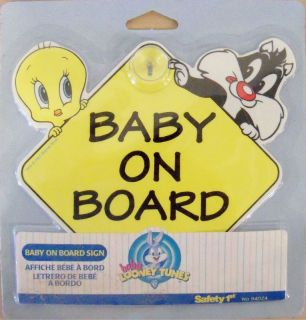 LOONEY TUNES/TOONS SYLVESTER/TWEE TY BIRD BABY ON BOARD SIGN PART 167