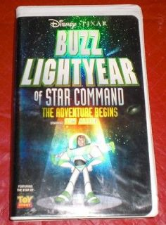 BUZZ LIGHTYEAR of Star Command VHS clamshell Disney